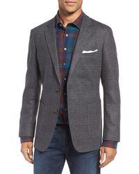 Rodd & Gunn Clareinch Herringbone Plaid Sport Coat - Grey
