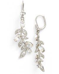 Marchesa - Leaf Drop Earrings - Lyst