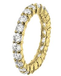 CZ by Kenneth Jay Lane - Cz Pave Band Ring - Lyst