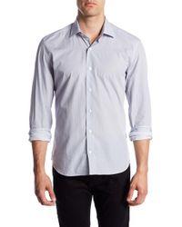 Culturata - Long Sleeve Circle Print Contemporary Fit Woven Shirt - Lyst