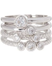 Cole Haan - Cz Stack Ring - Set Of 4 - Lyst