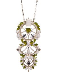 Jenny Packham - Crystal Pendant Necklace - Lyst
