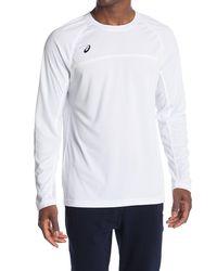 Asics Conform Long Sleeve Performance T-shirt - White