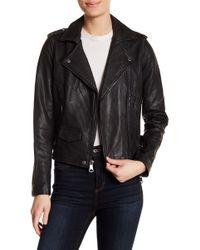 Marc New York - Anja Asymmetrical Leather Moto Jacket - Lyst