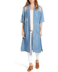 Billy T - Embroidered Maxi Length Bed Jacket - Lyst