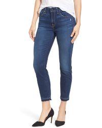 Jen7 - Release Hem Skinny Ankle Jeans (riche Touch) - Lyst