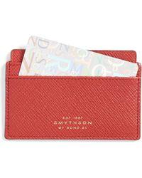 Smythson - Panama Card Case 771 - Lyst