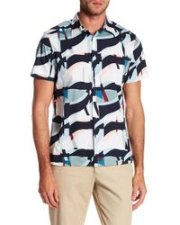 Perry Ellis - Oversize Geometric Short Sleeve Stretch Fit Shirt - Lyst