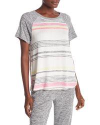 Kensie - Knit Stripe Pajama Tee - Lyst
