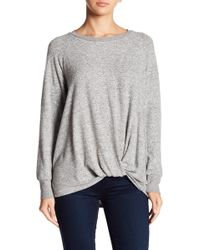 Gibson - Cosy Twist Front Pullover - Lyst