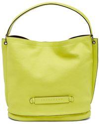 Longchamp - 3d Shield Leather Hobo Bag - Lyst