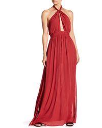Rokoko by Dazz - Halter Solid Long Dress - Lyst