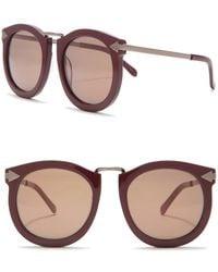 Karen Walker Super Lunar 53mm Sunglasses - Multicolour