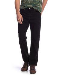 Fidelity Jimmy Slim Straight Leg Jeans - Black