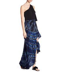 Young Fabulous & Broke - Kylie Swirled Pattern Hi-lo Skirt - Lyst