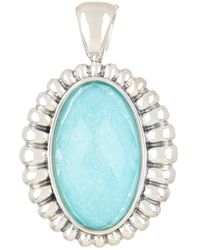 Lagos - Link Turquoise Fluted Oval Pendant - Lyst