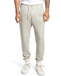Vince Plush Cotton Jogger Pants - Gray