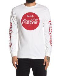 American Needle Coca-cola Graphic Long Sleeve Shirt - White