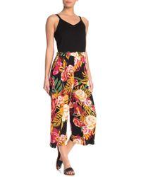Spense Floral Paperbag Crop Jumpsuit - Multicolour