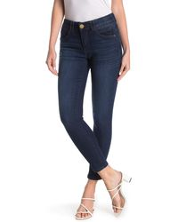 Democracy Ab Technology Ankle Skinny Jeans - Blue
