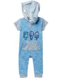 Rosie Pope 2-tone Slub Knit Romper (baby Boys) - Blue