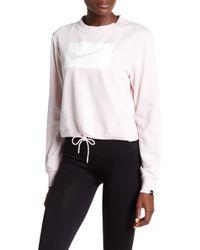 Nike - Cropped Crew Neck Swish Sweatshirt - Lyst