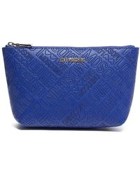 Love Moschino - Embossed Zip Travel Pouch - Lyst