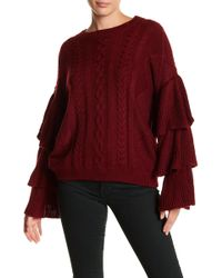 Oober Swank - Cable Knit Sweater - Lyst