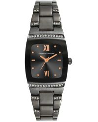 Geoffrey Beene Women's Tonneau Crystal Bracelet Watch - Metallic