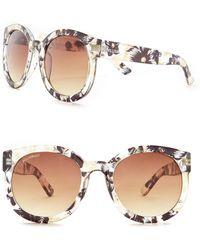 William Rast - Women's 53mm Round Sunglasses - Lyst