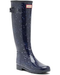 HUNTER - Refined Constellation Print Tall Boot - Lyst