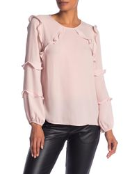 Cece by Cynthia Steffe - Tiered Ruffle Blouse - Lyst