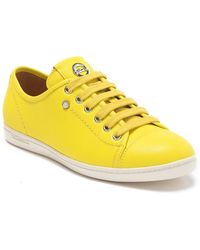 Longchamp Le Pliage Leather Sneaker - Yellow
