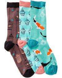 Socksmith - Patterned Socks - Pack Of 3 - Lyst