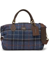 Barbour - Shadow Tartan Explorer Bag - Lyst