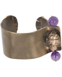 Valentino Beaded Skull Cuff - Multicolor