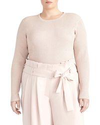 Rachel Roy Metallic Ribbed Sweater (plus Size) - Multicolor