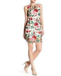 Alexia Admor - Embroidered Floral Sheer Dress - Lyst