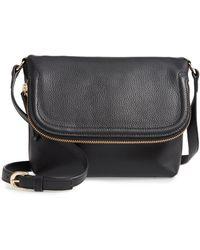 Nordstrom Annie Leather Crossbody Bag - Black