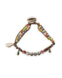 Rebecca Minkoff Surf Beaded Shell Charm Bracelet - Metallic