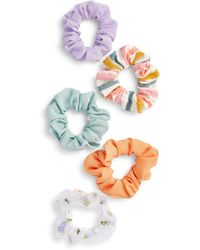 BP. 5-pack Assorted Scrunchies, White