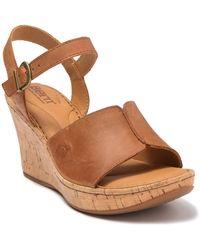 Born Agnio Wedge Sandal - Brown