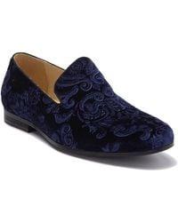 Bacco Bucci Nevis Velvet Loafer - Blue