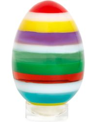 Jonathan Adler Medium Multi Stacked Acrylic Egg - Multicolour