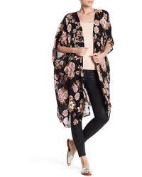 Angie - Floral Print Kimono - Lyst