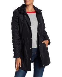 Laundry by Shelli Segal - Ruched Sleeve Trench Coat - Lyst