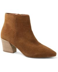 Kensie Leyton Ankle Booties - Brown