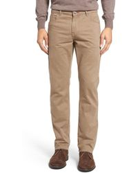 Bugatchi - Mini Check Five-pocket Trousers - Lyst