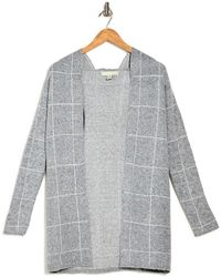 Love By Design Apollo Hooded Pattern Cardigan - Gray