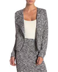 BLANC NOIR - Knit Asymmetrical Zip Jacket - Lyst